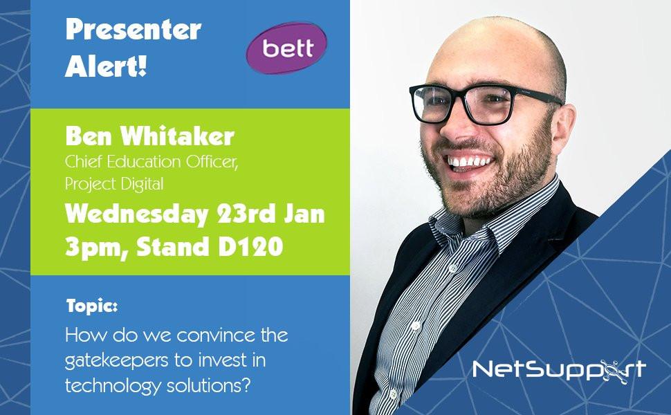 Ben on Netsupport stand at BETT
