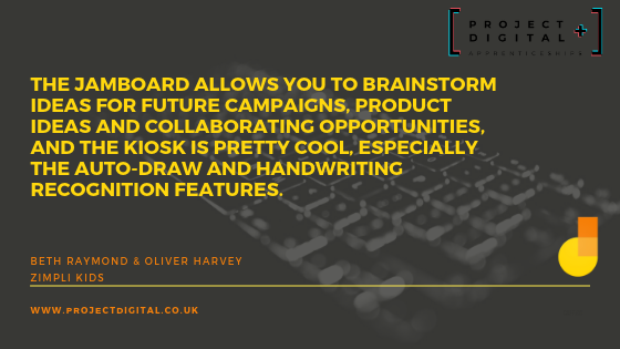 Quotes from Project Digital Apprentices about Jamboard