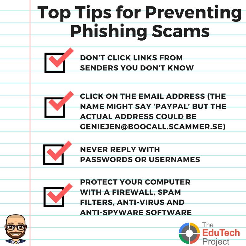 Prevent Phishing Scams
