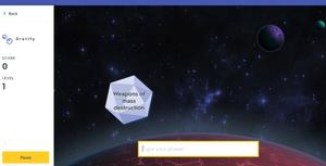 Gravity Screenshot - quizlet.com