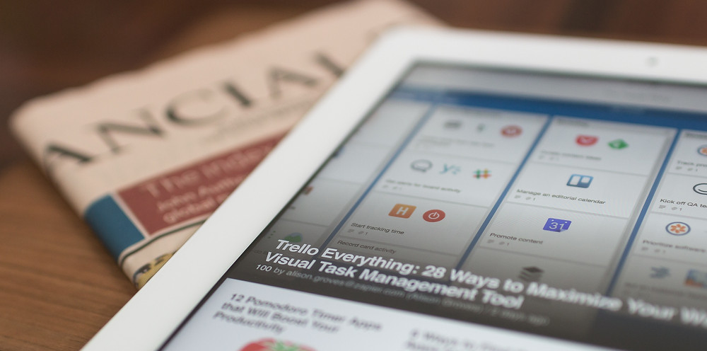 Financial planning - iPad on FT