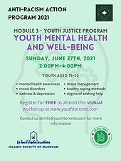 Youth Justice Program | Mental Health & Well Being