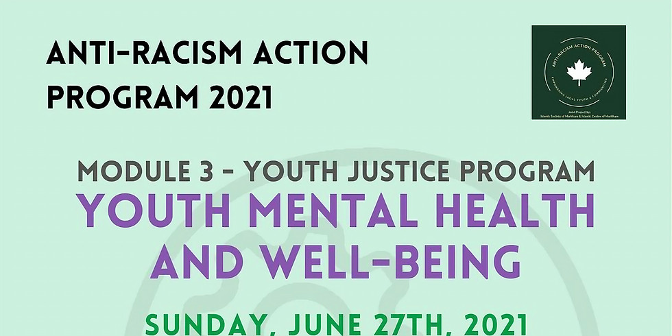 Youth Justice Program   Mental Health & Well Being