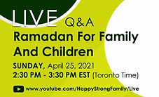Live Q&A Ramadan For Family & Children