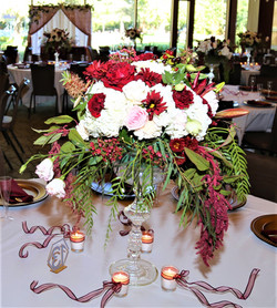 White and Burgundy in our rental vessels