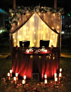 Bridal Sweetheart Table