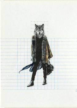 Lobo abrigo de zorro