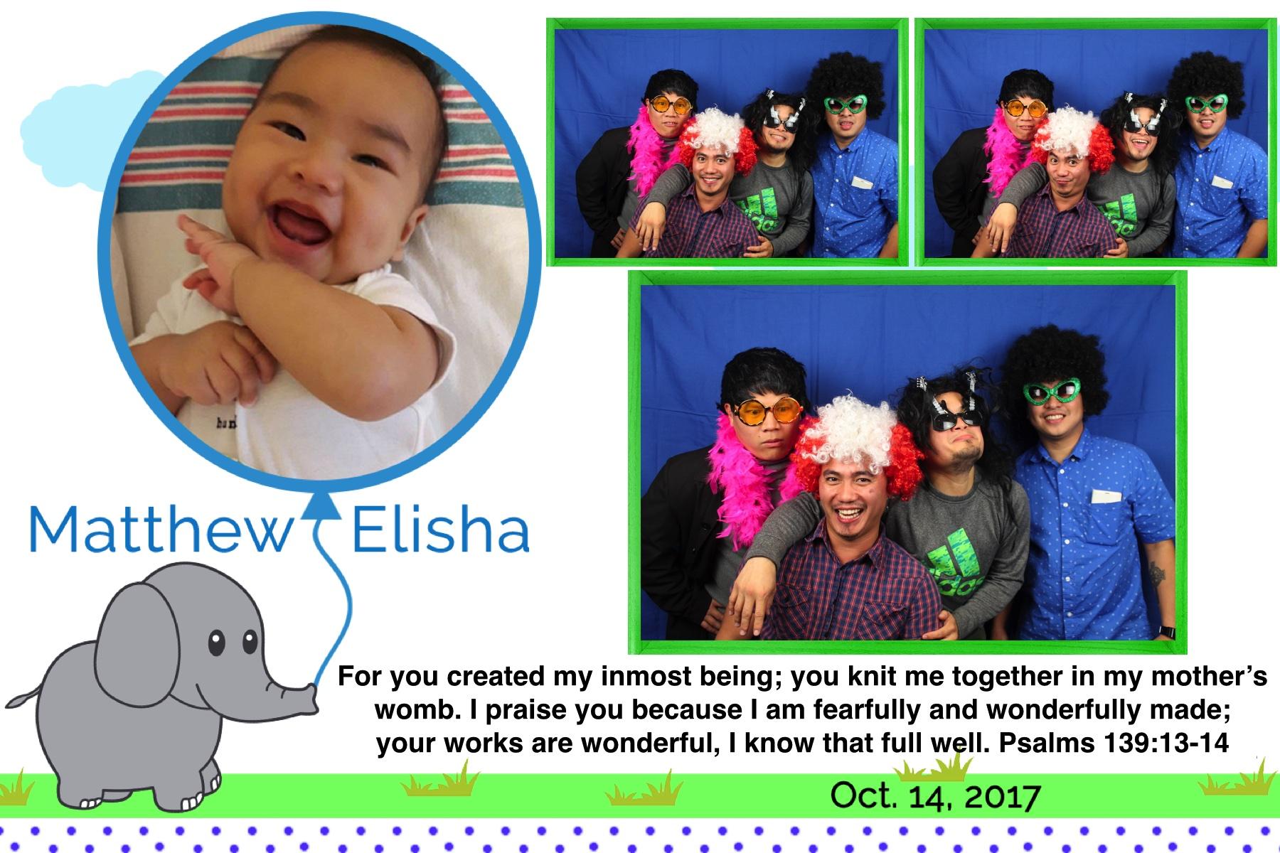 Matthew Elisha's Dedication