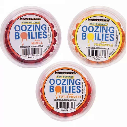 SonuBaits Semi-Buoyant Oozing Boilies