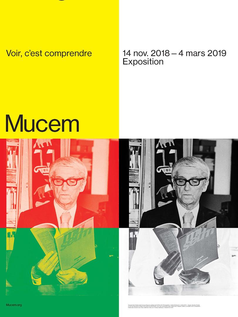 """Affiche de l'exposition """"GHR : Voir c'est comprendre"""" au Mucem"""