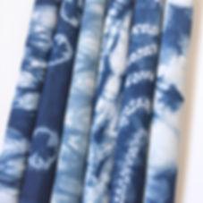 Cotton Indigo Shibori Bundle
