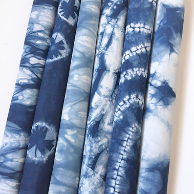 Cotton Indigo Shibori Bundle
