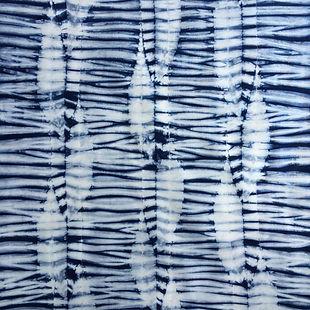 Indigo Dyed Shibori Fabric