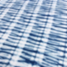 Blue Stripe Indigo Shibori Fabric