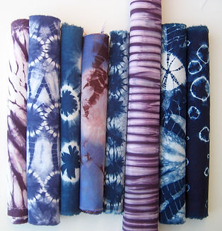 Indigo and Purple Shibori Bundle