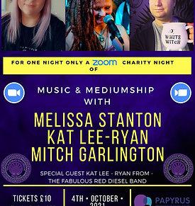 A Zoom Charity Night Of Music & Mediumship With Melissa Stanton, Kat Lee - Ryan