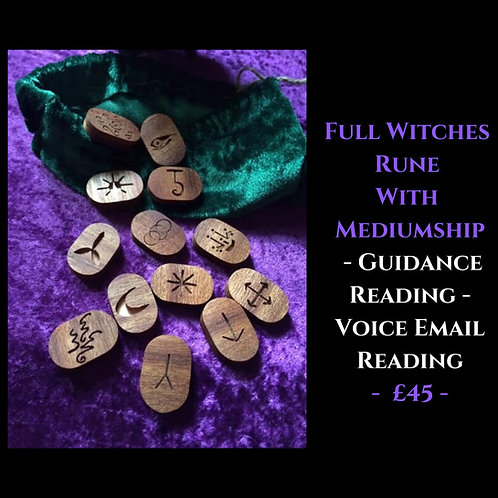 Full Witches Rune With Mediumship -Voice Recorded Guidance Email Reading