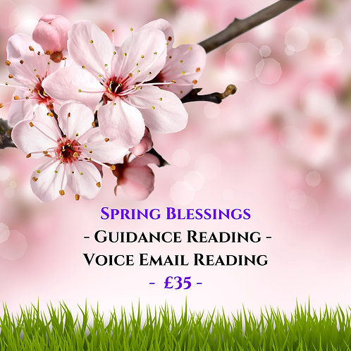 Spring Blessings - Tarot Guidance - Voice Recorded Email Reading