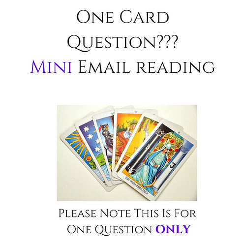 One Card Question Mini Voice Recorded Reading