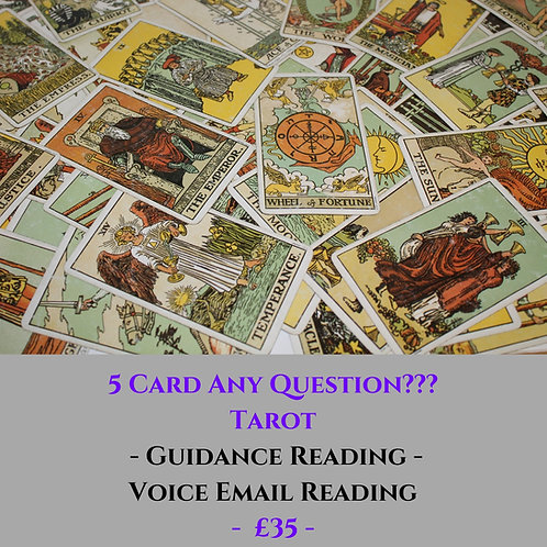 5 Card Any Question Tarot - Guidance Voice Recorded Email Reading