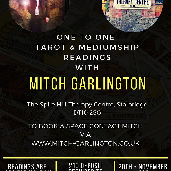 One To One Readings - With Mitch At Spire Hill Therapy Centre