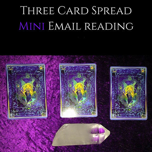 Three Card Spread Voice Recorded Reading