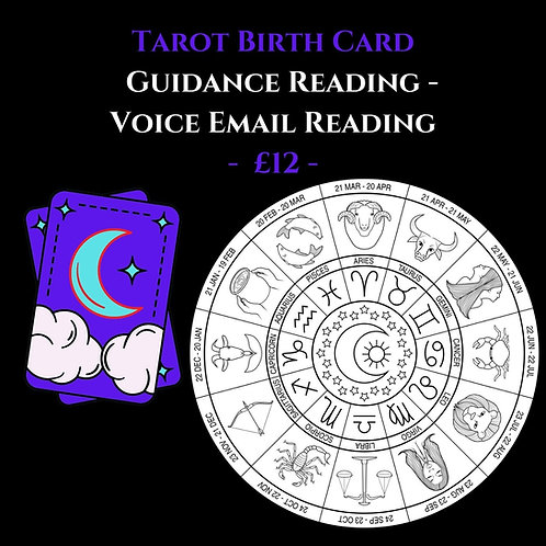 Tarot Birth Card - Tarot Guidance - Voice Recorded Email Reading
