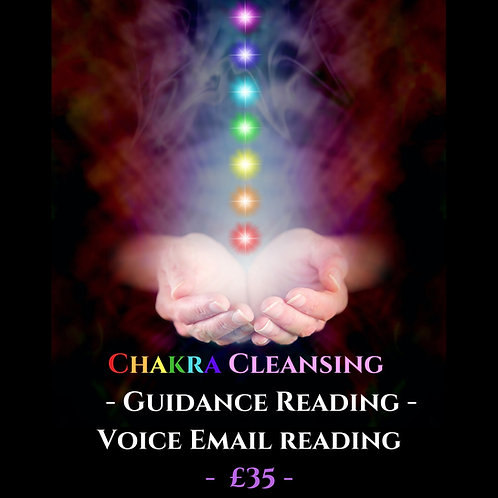Chakra Cleansing Guidance Reading - Voice Recorded Email Reading