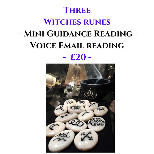 Three Witches Runes - Mini Voice Recorded Email Reading