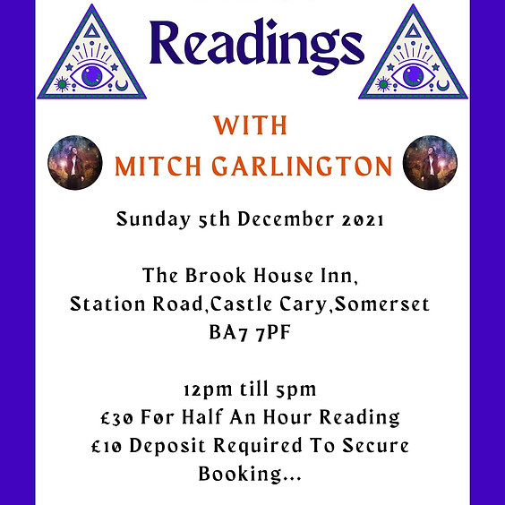 One To One Readings - With Mitch At The Brook House Inn Castle Cary