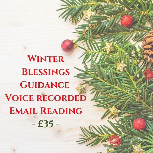 Winter Blessings - Tarot Guidance - Voice Recorded Email Reading