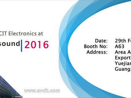 Meet AVCIT Electronics at Prolight + Sound Guangzhou 2016