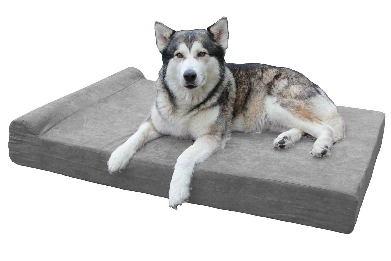 Gray Memory Foam Dog Bed
