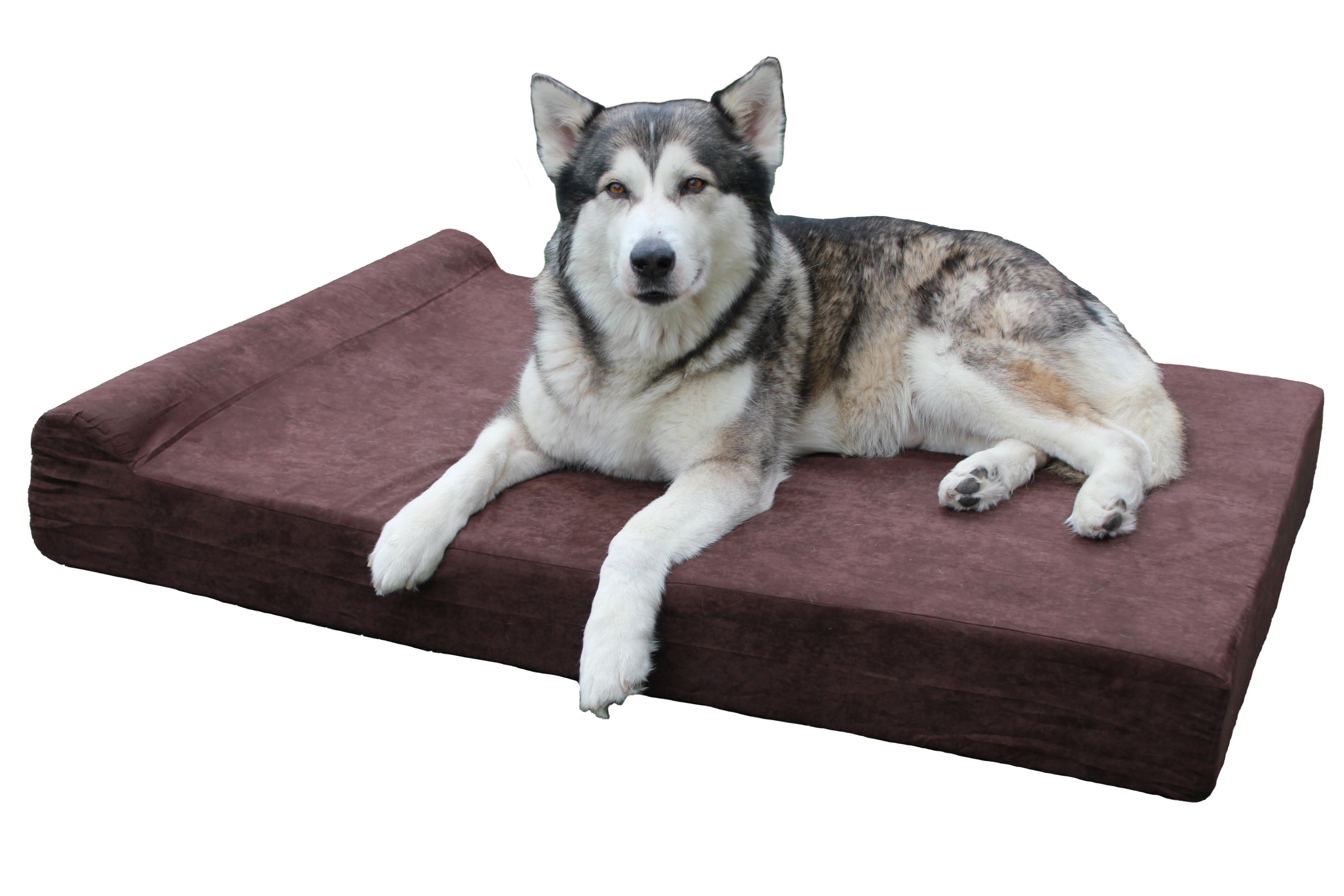 Brown Memory Foam Dog Bed