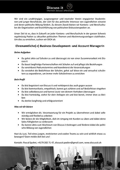 Business Development- und Account Manage