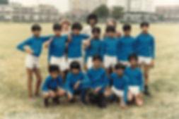 Boys youth club football team with Saathi House