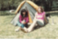 Liz Anderton and Nelly on Saathi House camping trip