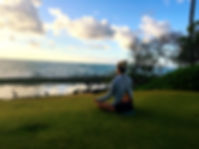 meditating in Kauai
