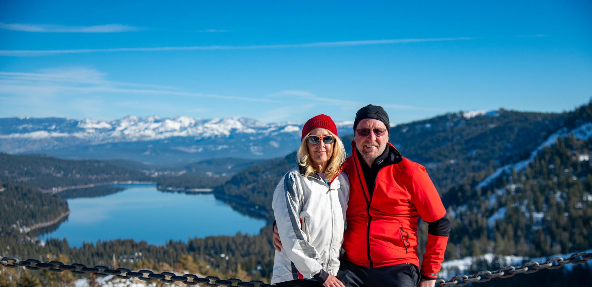 Laura and Allan at Donner Lake