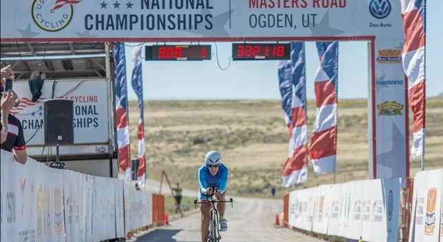 Winning the Time Trail in Colorado