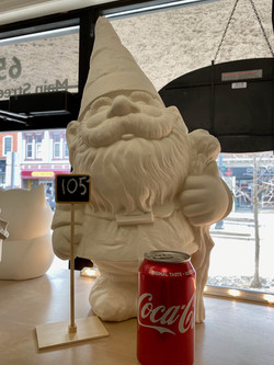 large gnome by himself