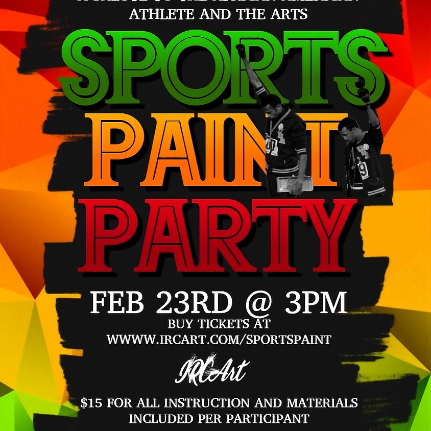 IRCArt Sports Paint Party