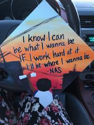 "Custom ""Nas"" Graduation Cap Topper"