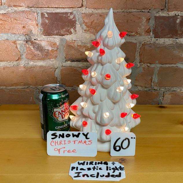 SNOWY CHRISTMAS TREE $60