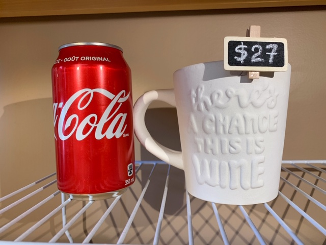 THERE'S A CHANCE THIS IS WINE MUG $27