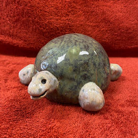 Hand built Clay Turtle