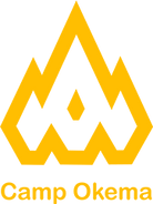 Gold Simple Camp Okema Logo with simple