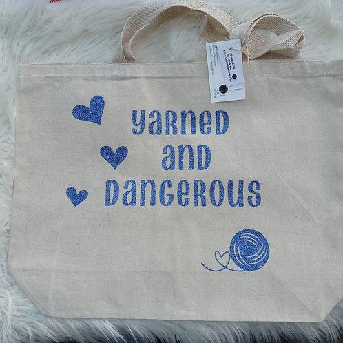 Yarned and dangerous tote bag