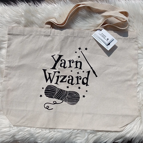 Yarn wizard tote bag