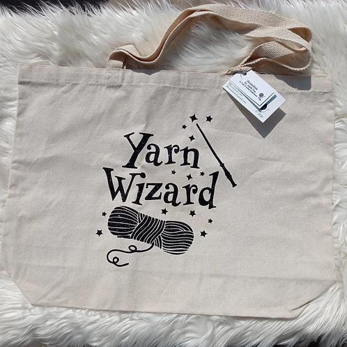 Yarn wizard tote bag